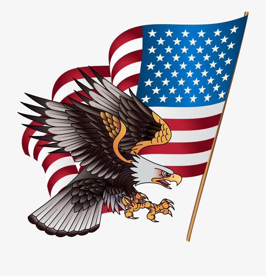 Patriotic vector eagle.