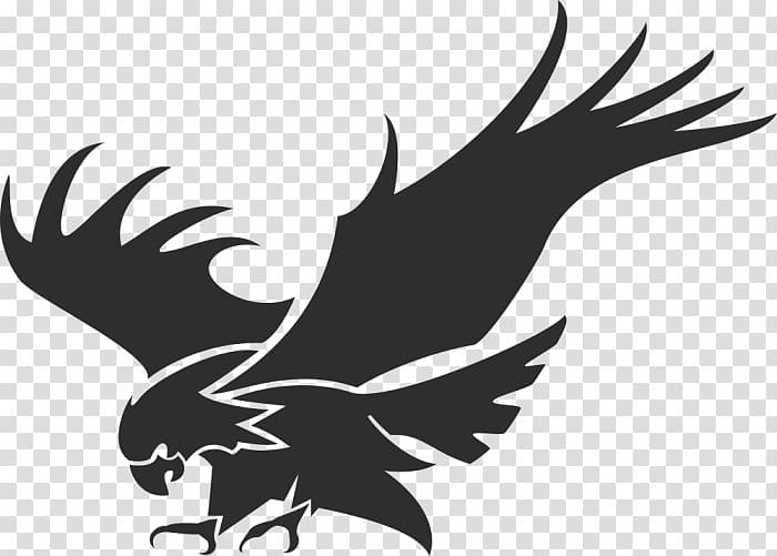 Logo stencil eagle.