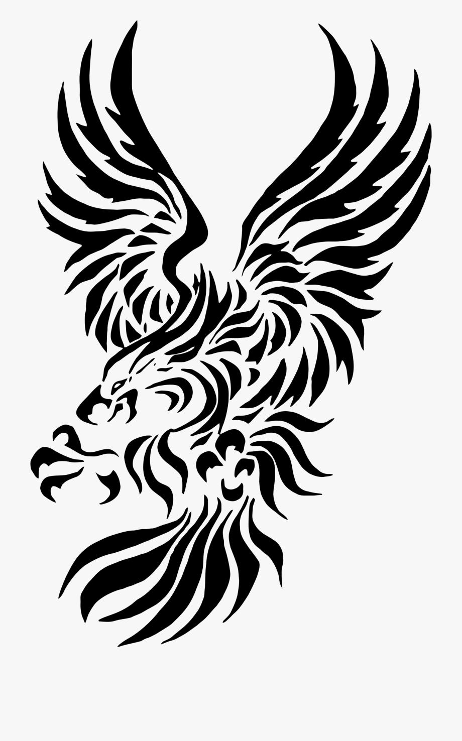 Eagle clipart tribal.