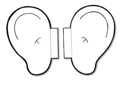 Ears clipart five senses. Listening images panda free