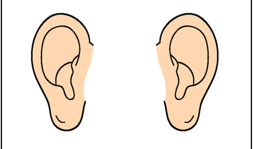 Ears clipart black.