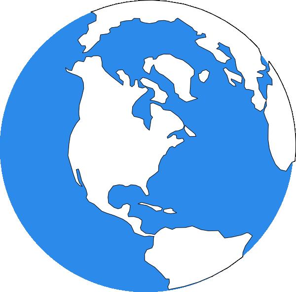 earth clipart blue