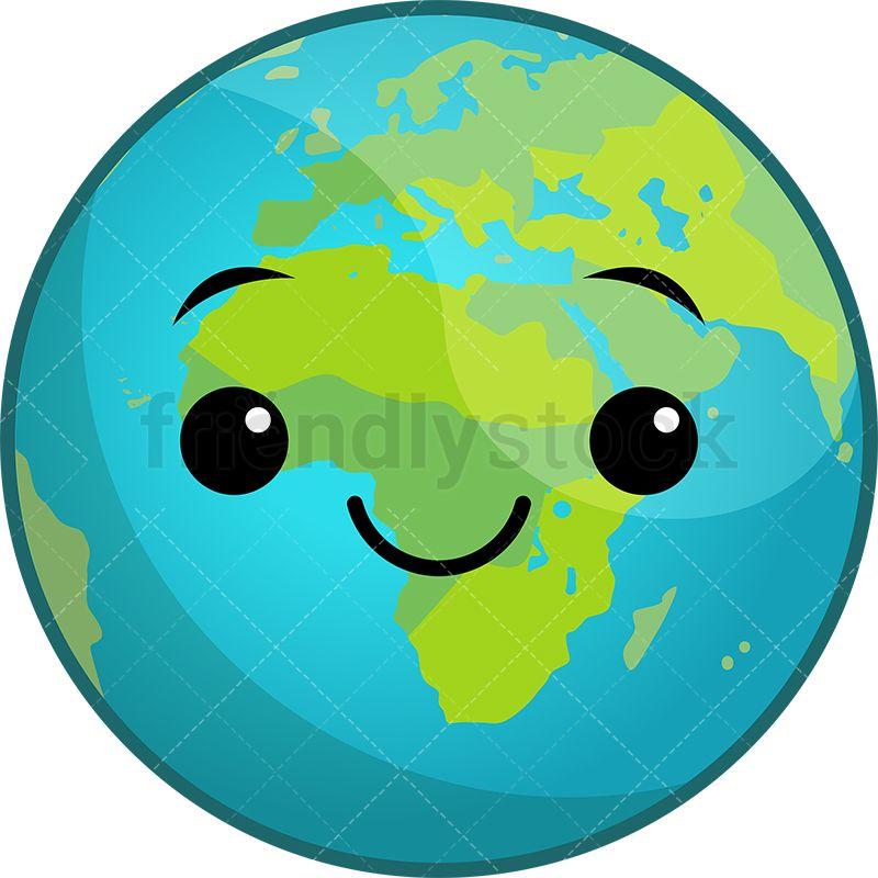 Kawaii planet earth.