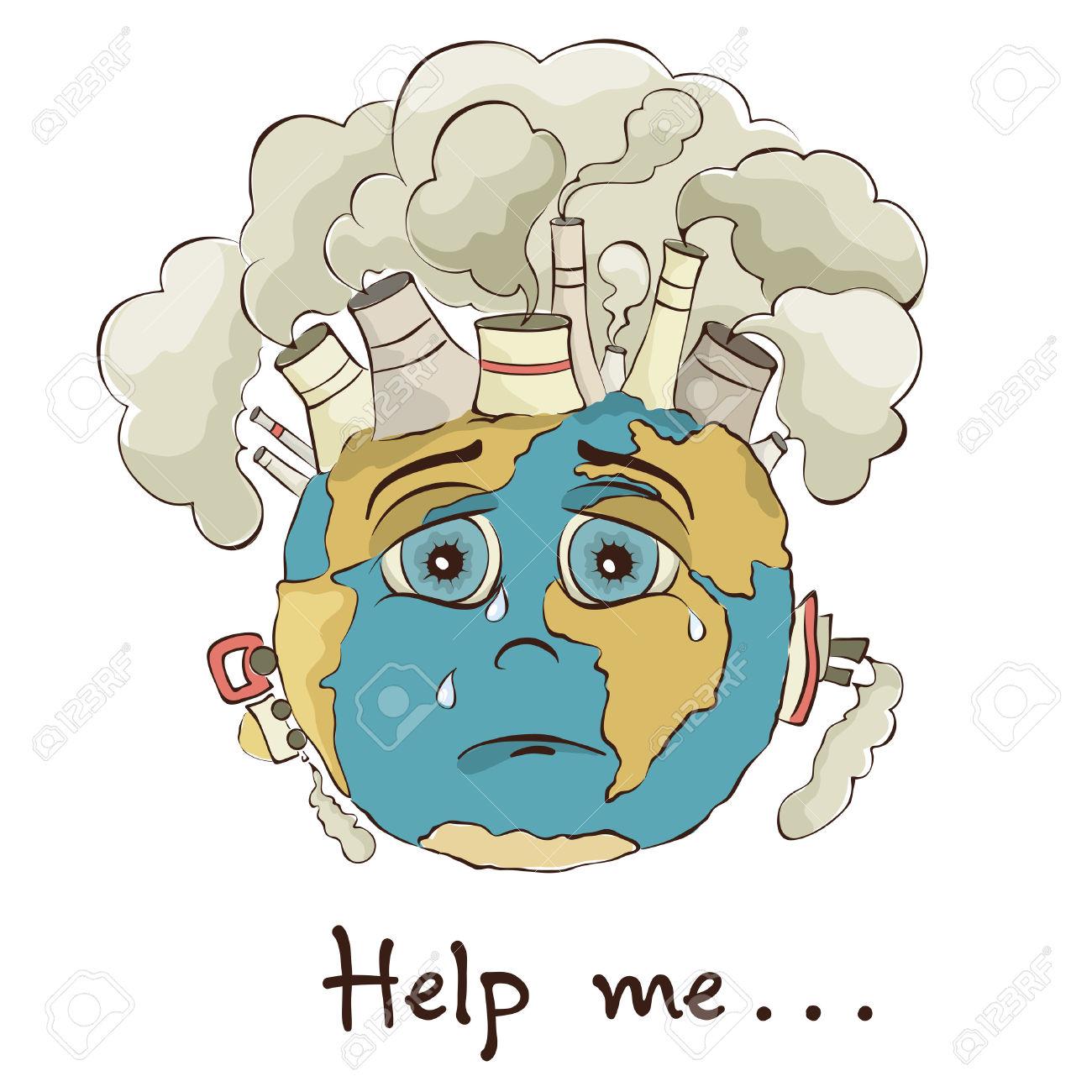 Earth pollution clipart.