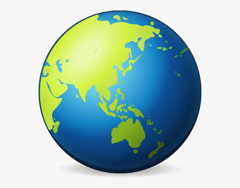Earth clipart half.