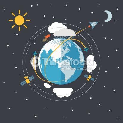 Vector illustration astronomy.