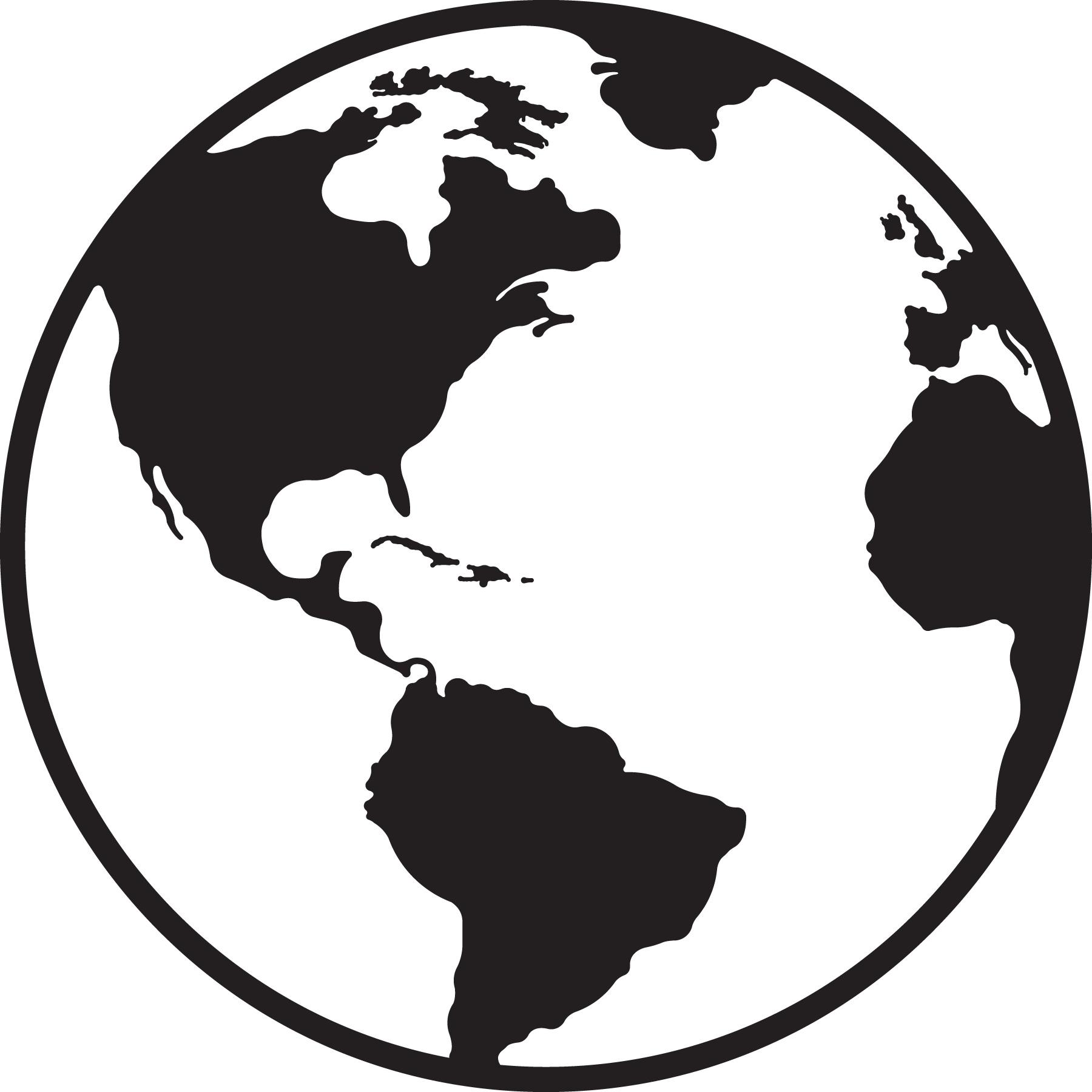 Earth clipart black.