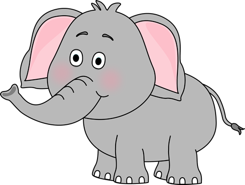 free elephant clipart colorful