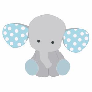 Baby elefant blue.