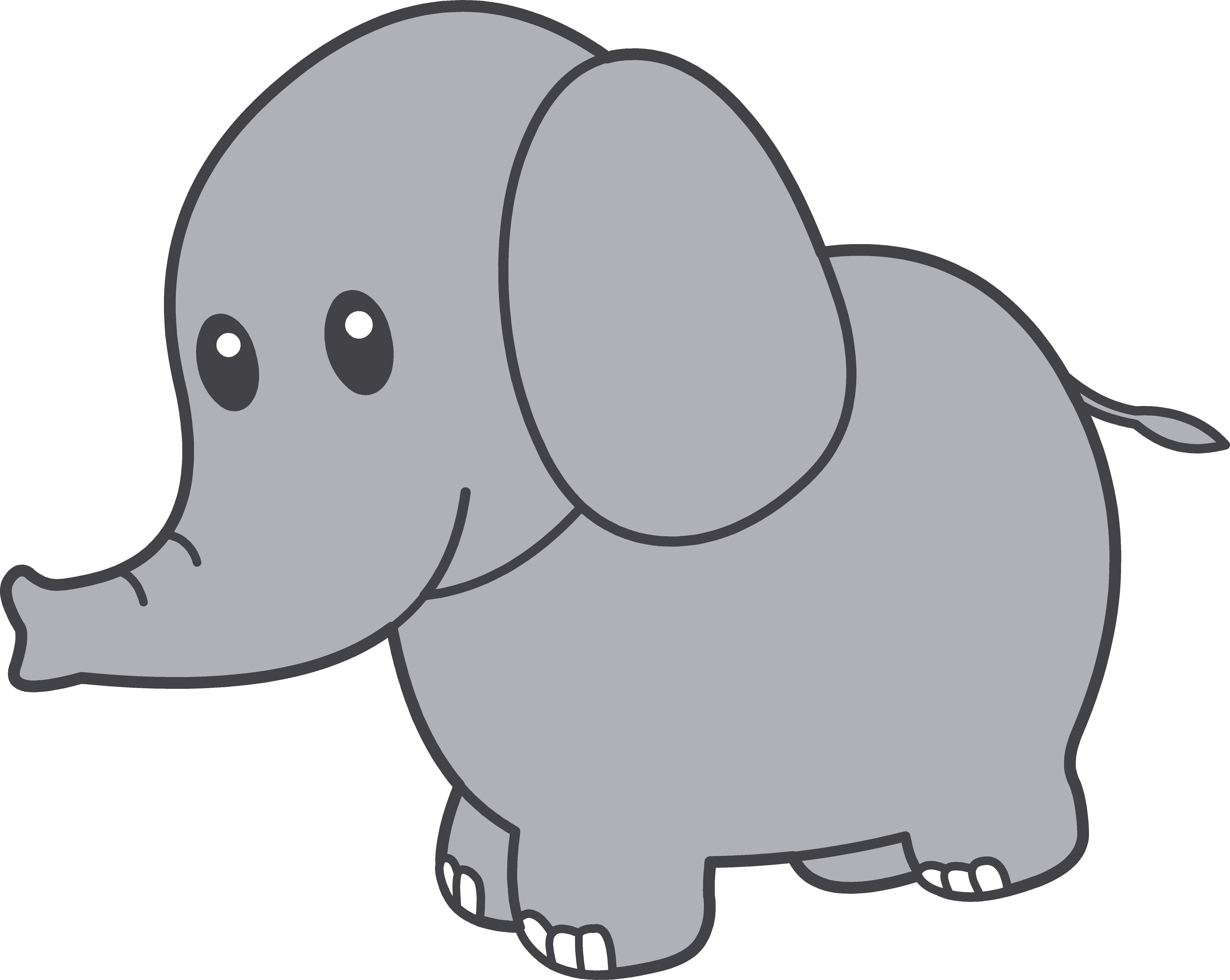 Gray elephant cute.