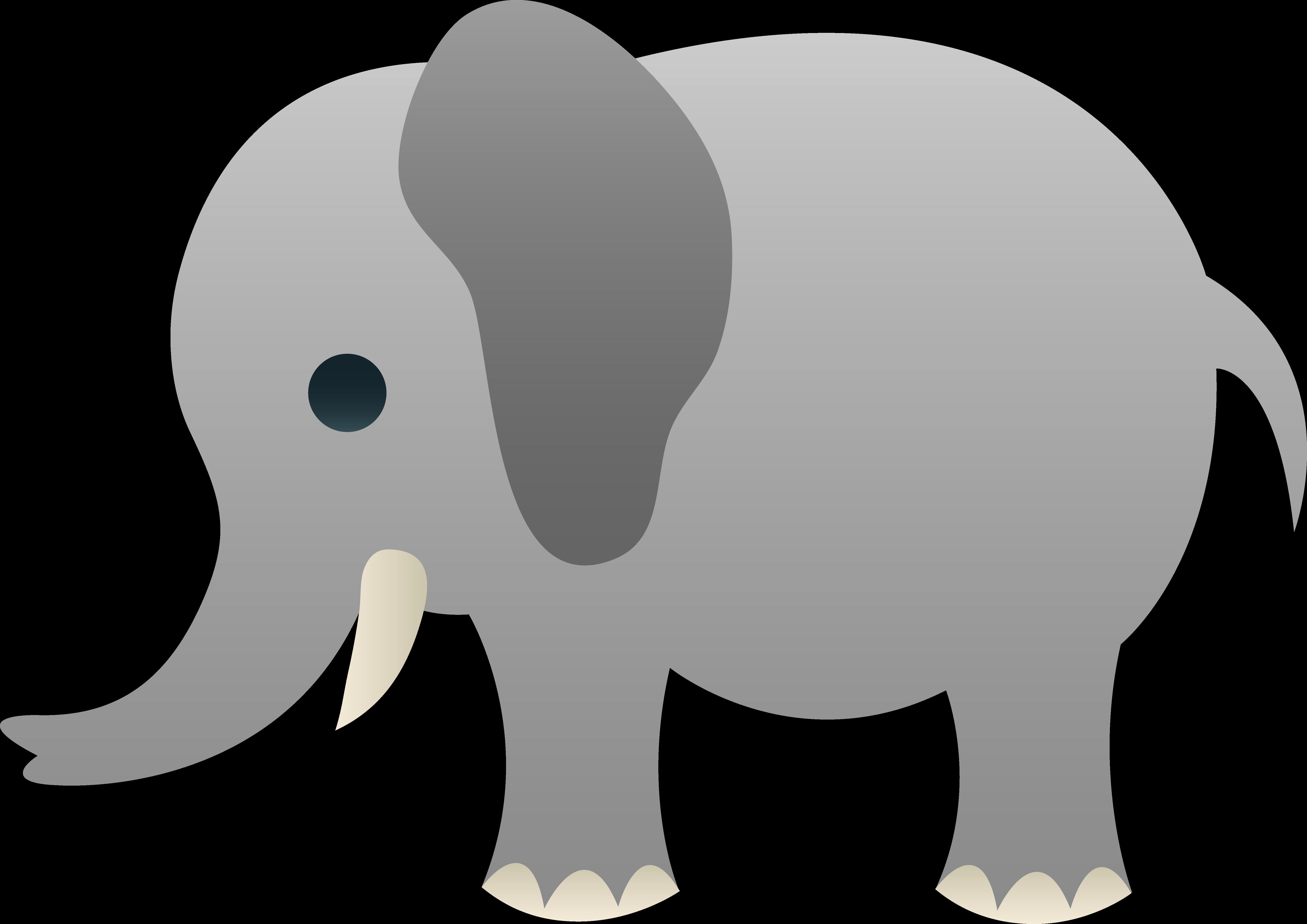 Grey elephant cliparts.