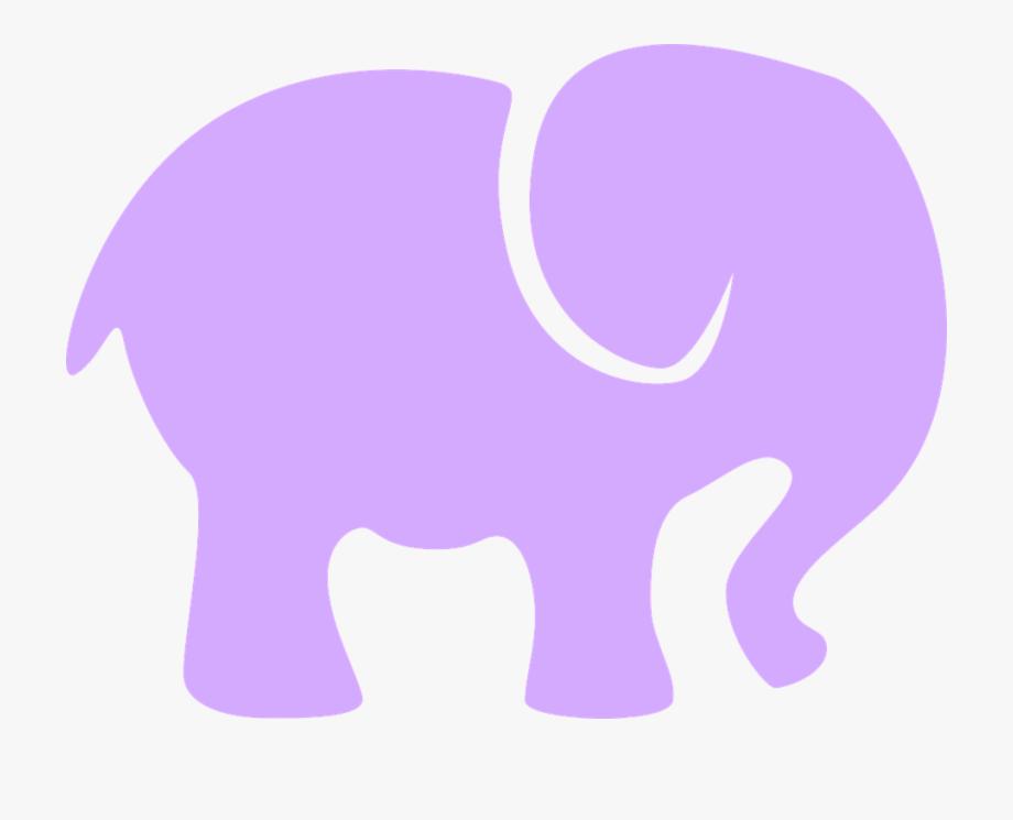 Elephants clipart lavender.