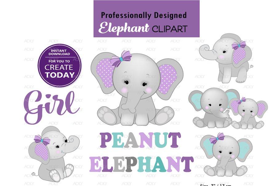 Elephant mommy baby.
