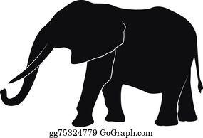 Elephant silhouette clip.