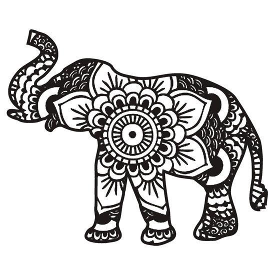 Tribal elephant clipart.
