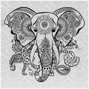 Clipart elephant tribal.