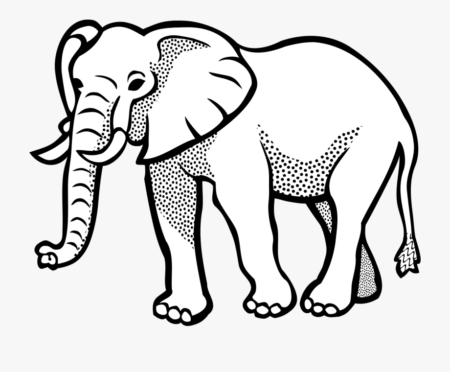Clipart elephant black.