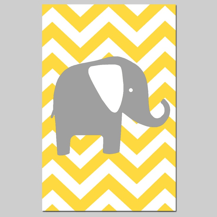 Chevron elephant silhouette.