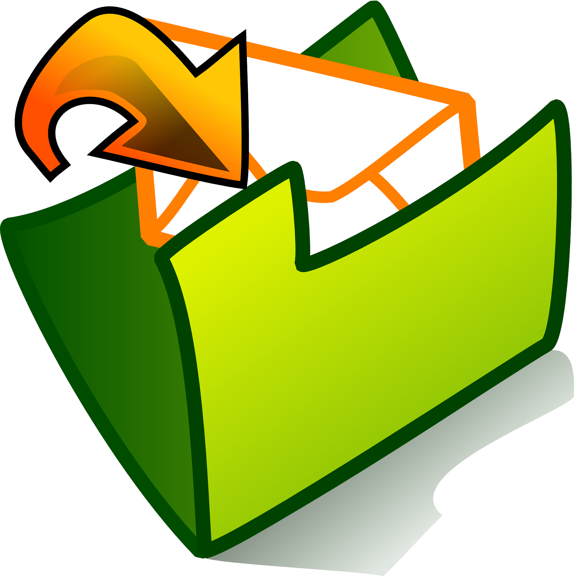 email clipart lost
