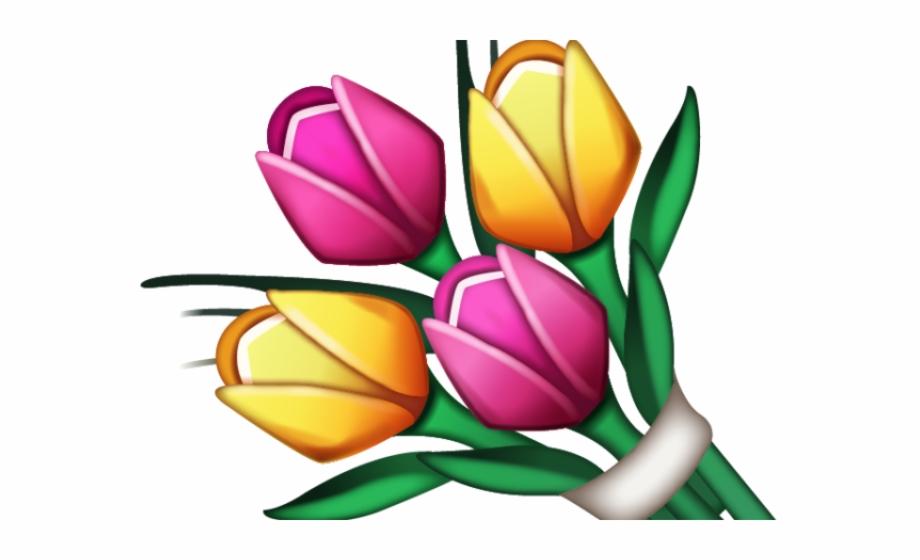 Emoji clipart flower.