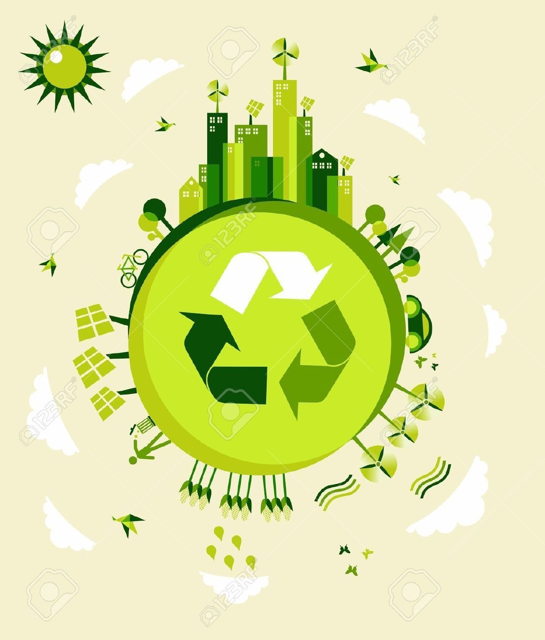 Environment clipart sustainable. Stock vector architechture in