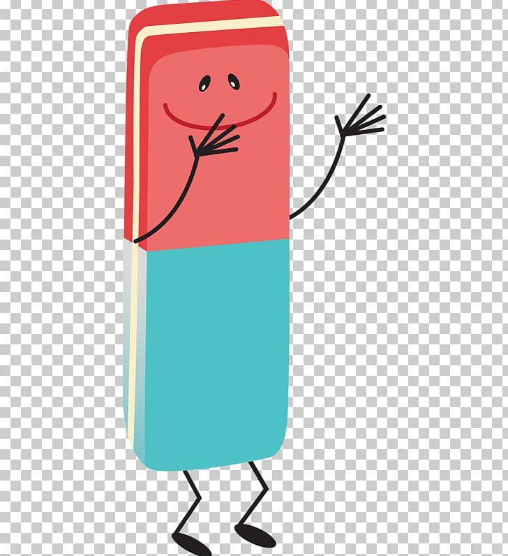 Eraser pencil cartoon.