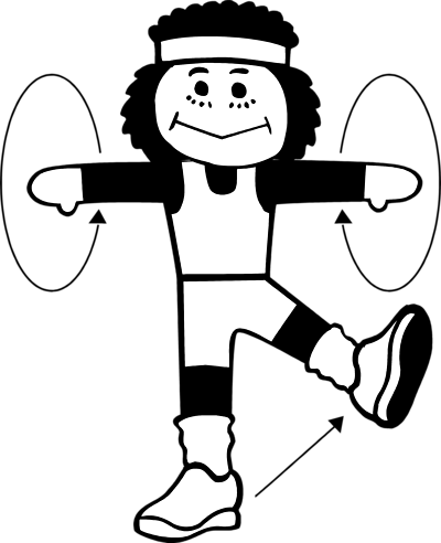 Exercising clipart black white. Free cliparts download clip