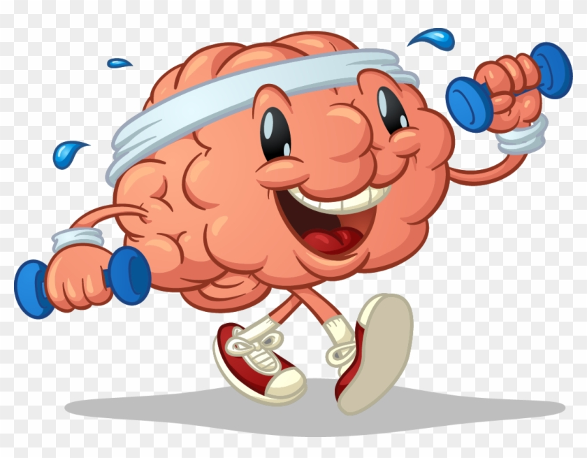 Exercise clipart cute. Brain hd png download
