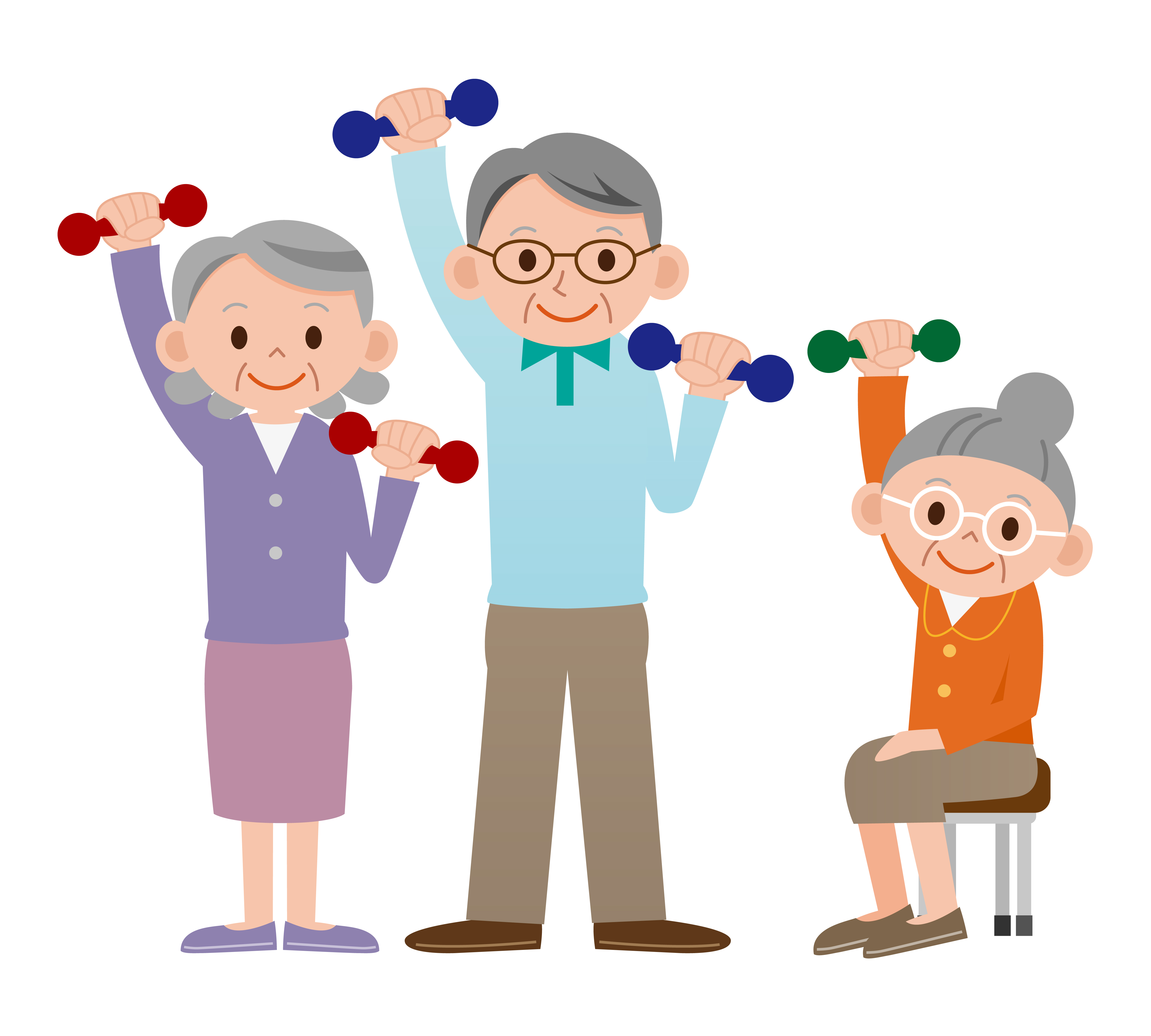 Exercising clipart elderly transparent.