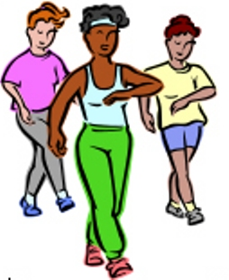 walking clipart exercise