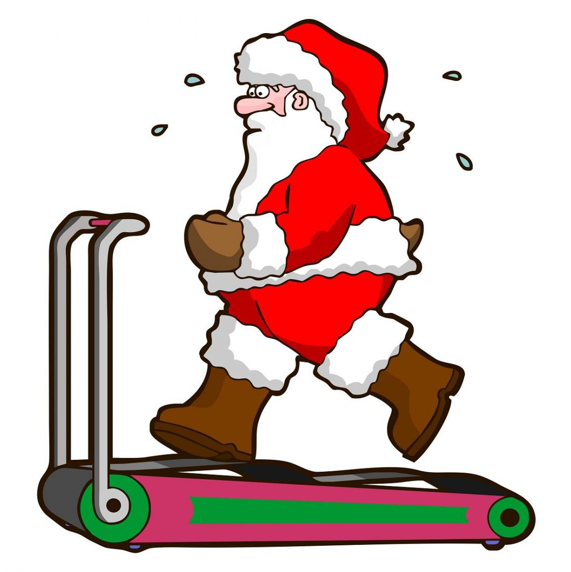exercising clipart christmas