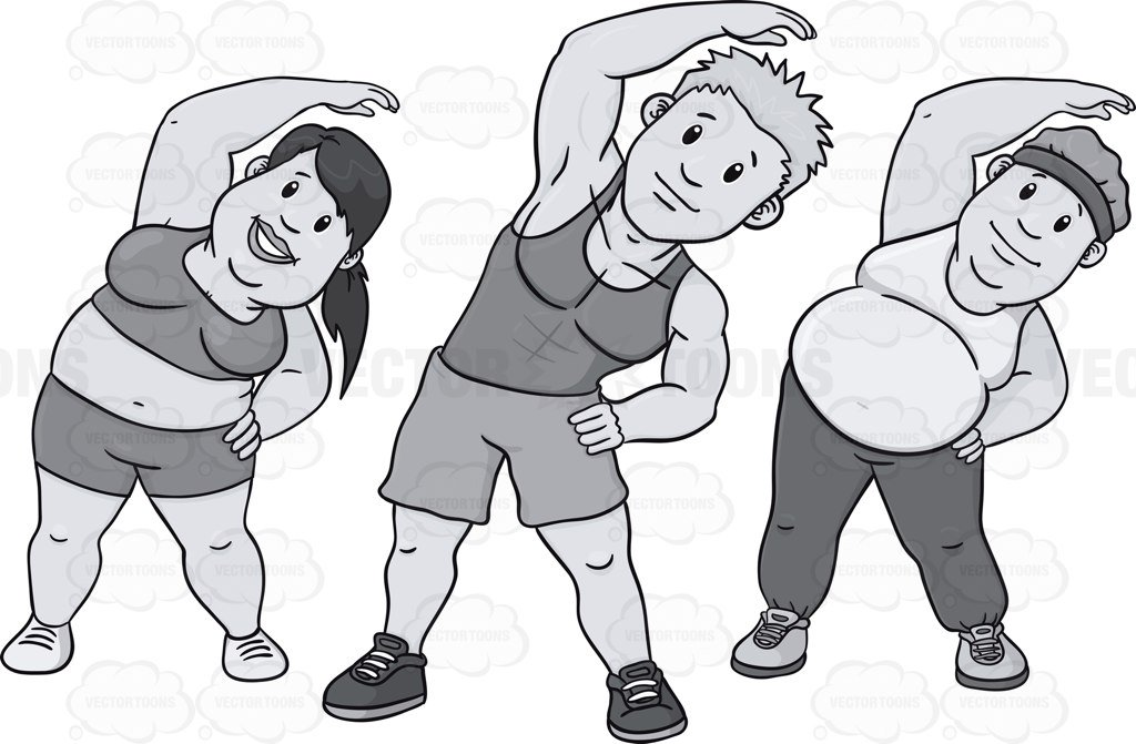 Exercising clipart black white. And portal