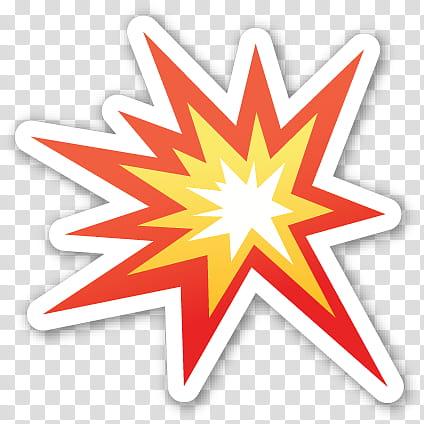 Emoji sticker red.