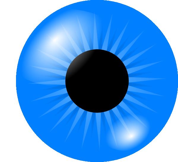Light blue eye.