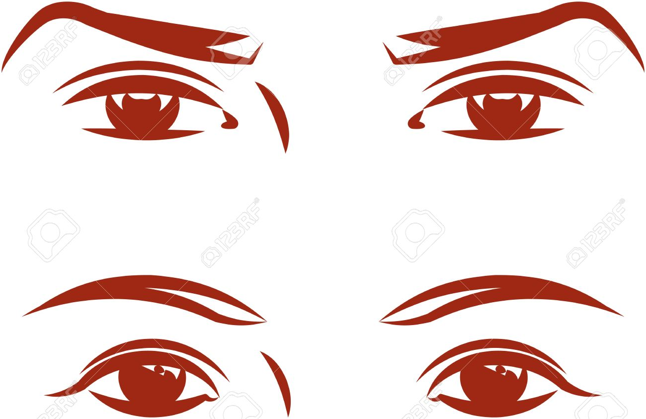 Eye clipart male. And female eyes vector