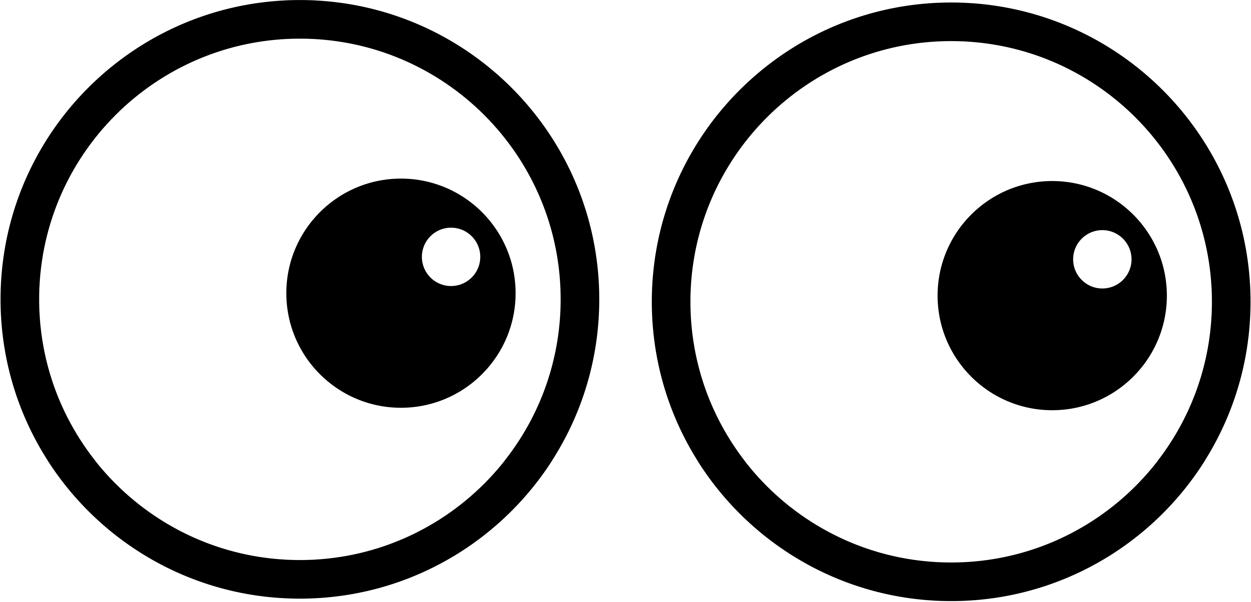 eyes clipart black and white coloring