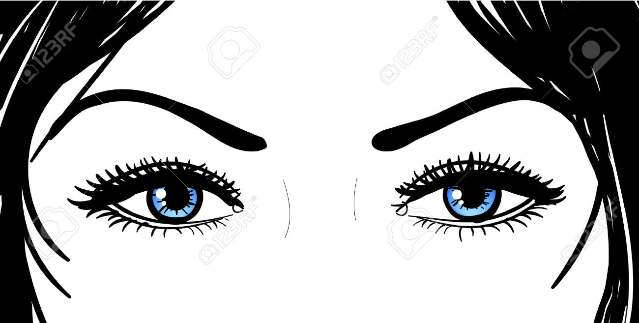 Beautiful black eyes clipart