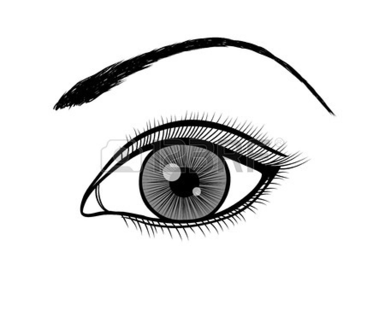 Beautiful black eyes.