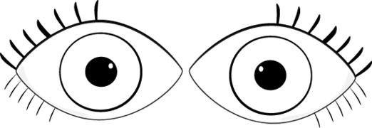 eyes clipart black and white different