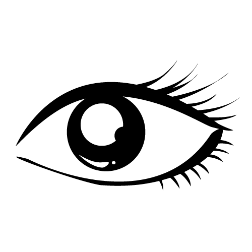 eyes clipart black and white outline