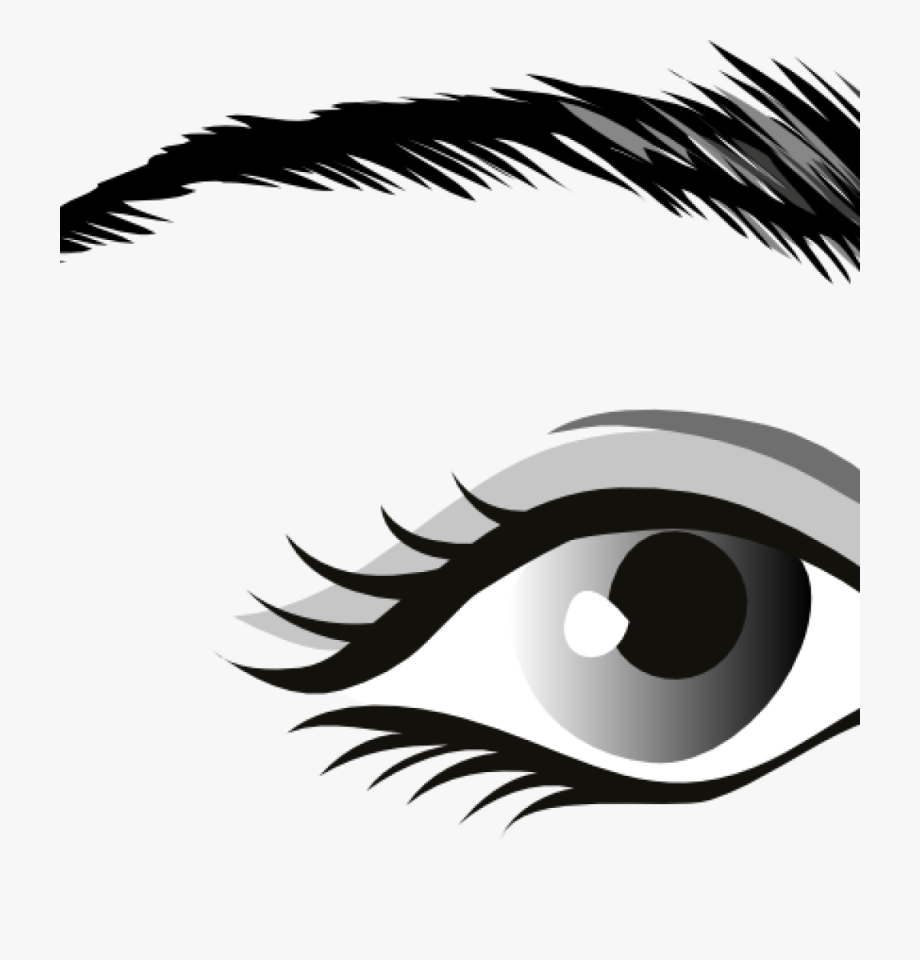 eyes clipart black and white silhouette