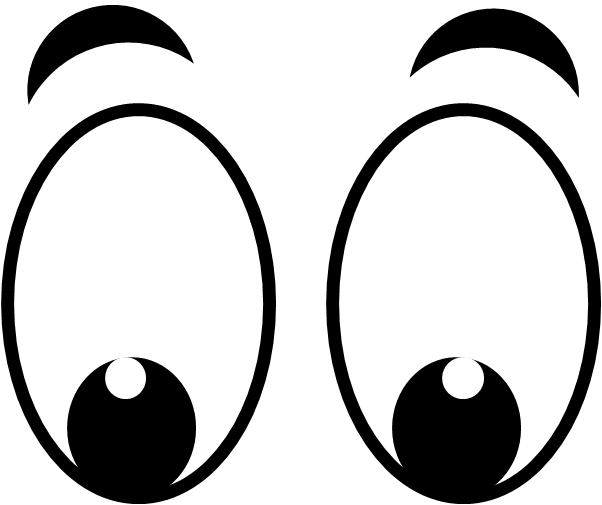 Eyes clipart black and white animated. A cartoon eye