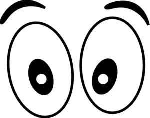 eyes clipart black and white silly