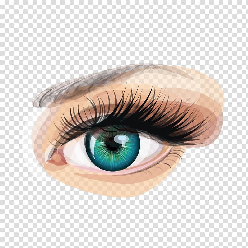 Human eye art.