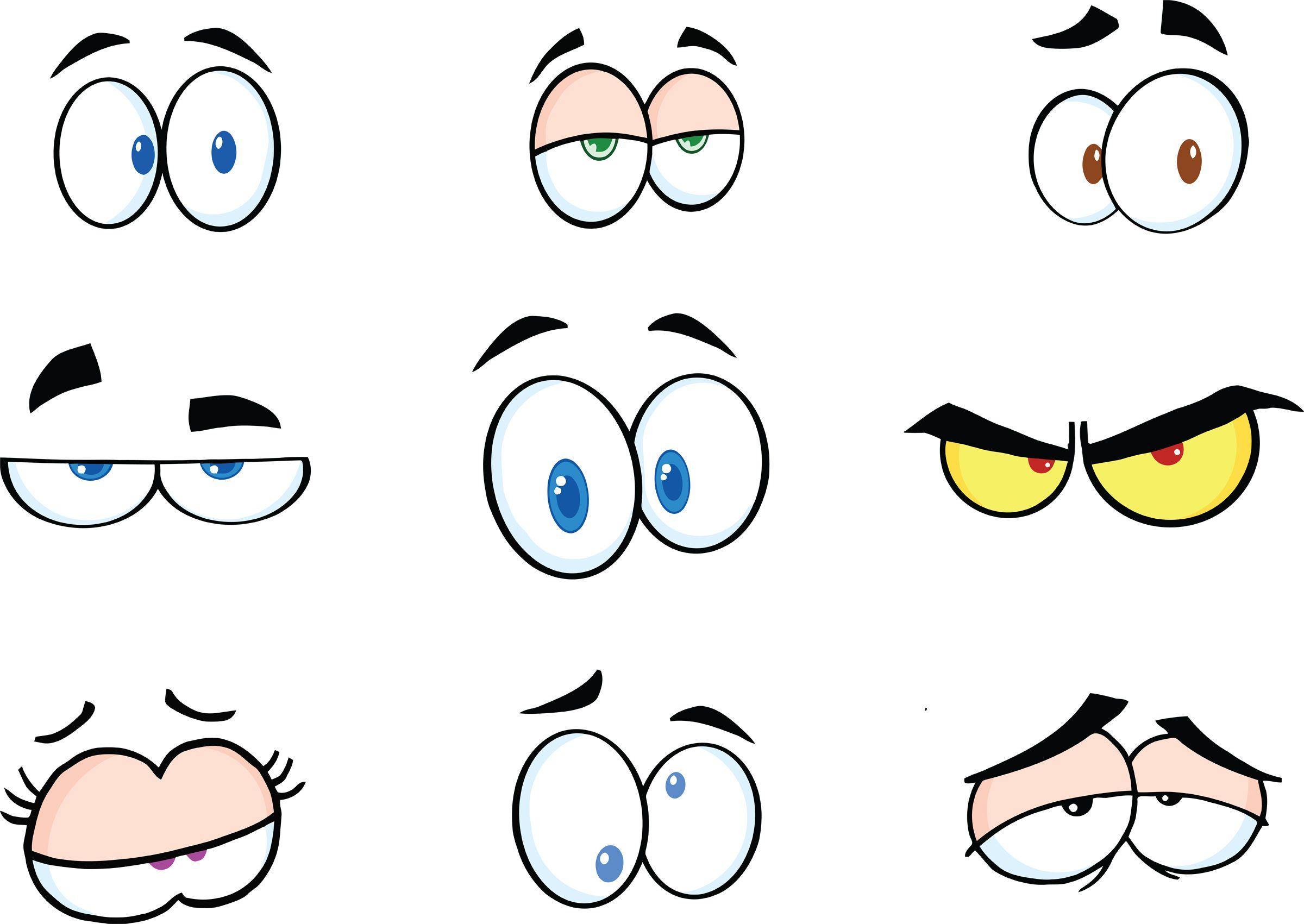 Funny cartoon eyes.