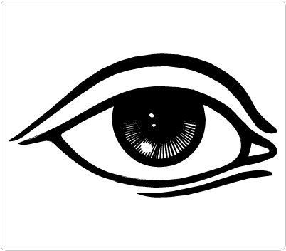 eyes clipart black and white boy