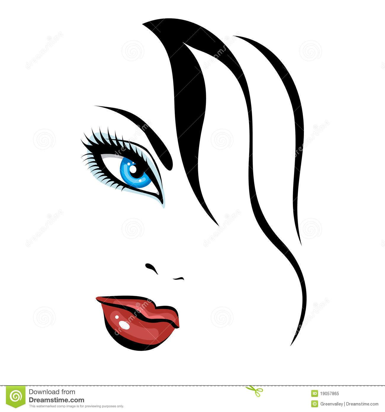 faces clipart beauty