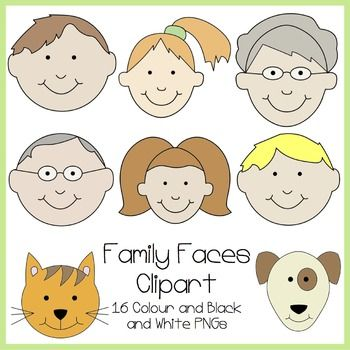 Faces clipart free family member.
