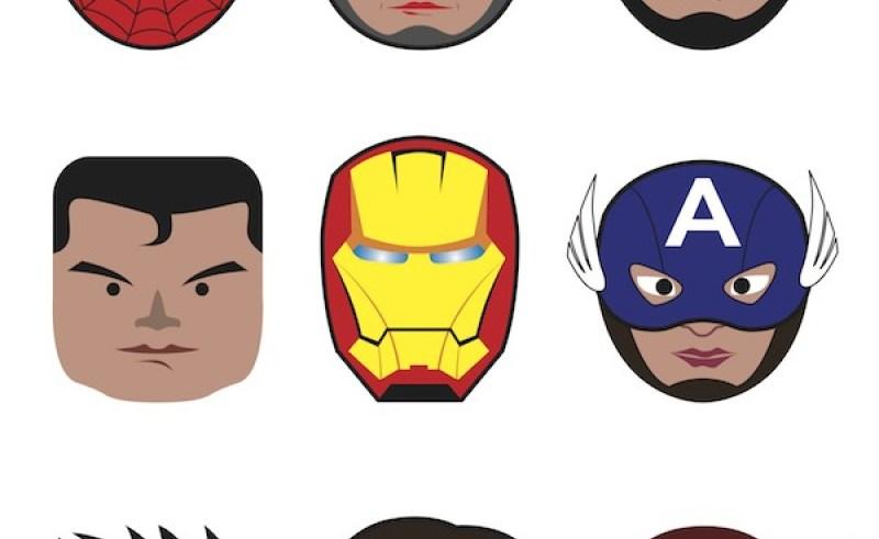 Super hero faces.