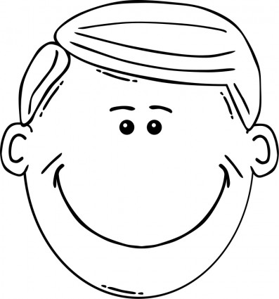 Faces clipart white. Faces clipart white. Free man face black